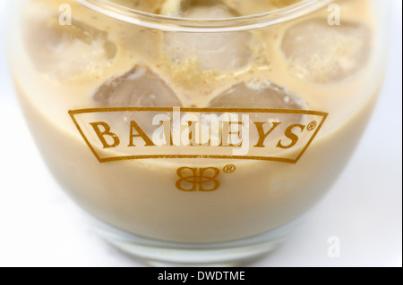 Baileys with ice - Stock Photo