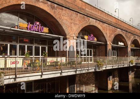 Lola Lo restaurant Businesses near Deansgate Locks, Whitworth West,  Manchester City, UK - Stock Photo