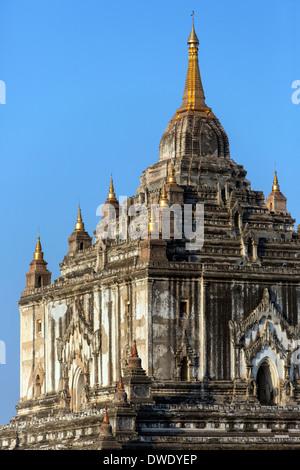 Thatbyinnyu Buddhist Temple in the Archaeological Zone in Bagan in Myanmar (Burma) - Stock Photo
