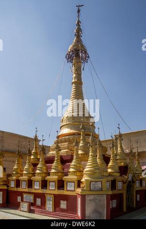 Mount Popa - Popa Taungkalat (Taung Kalat) Shrine, home to 37 Mahagiri Nats - Burma (Myanmar) - Stock Photo