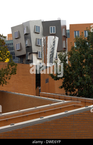 Quirky architecture of the Ray and Maria Stata Center MIT (Massachusetts Institute of Technology) in Boston, USA - Stock Photo