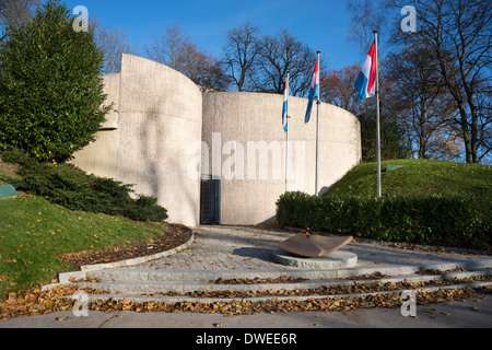 National Memorial of Solidarity,  Plateau du St-Esprit, Luxembourg City, Grand Duchy of Luxembourg - Stock Photo