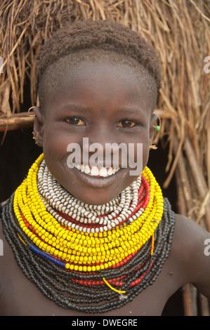 Nyangatom girl - Stock Photo