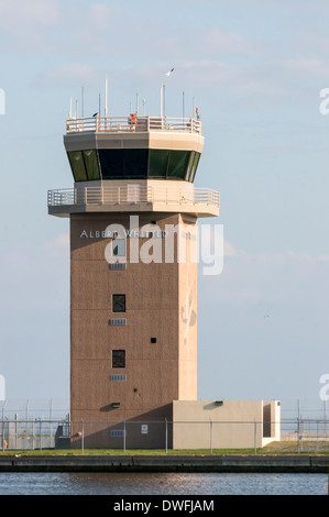 The Albert Whitted airfield for small aircraft control tower on the St. Petersburg, Florida waterfront. - Stock Photo