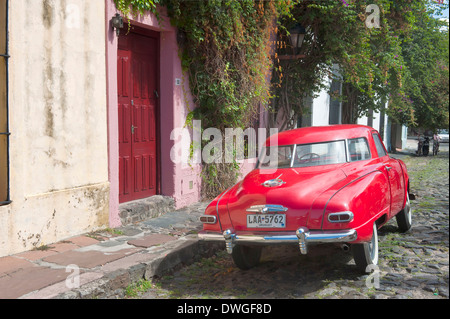 Vintage car, Colonia del Sacramento - Stock Photo