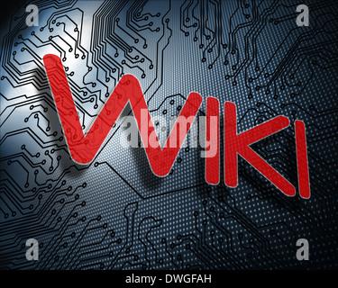 wiki word Stock Vector Art & Illustration, Vector Image: 90973821 ...