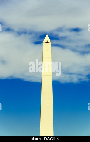 The obelisk, a historic monument in Buenos Aires, Argentina - Stock Photo