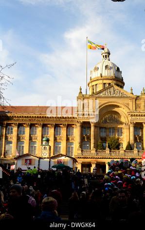 City Hall And Christmas Tree And Flag In Thun Town Hall