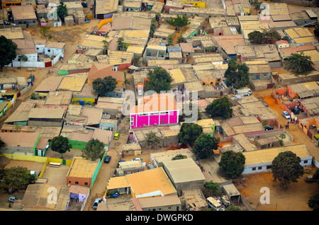 Luanda from the air. Angola, Africa - Stock Photo