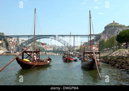 Rabelo boat, Porto - Stock Photo