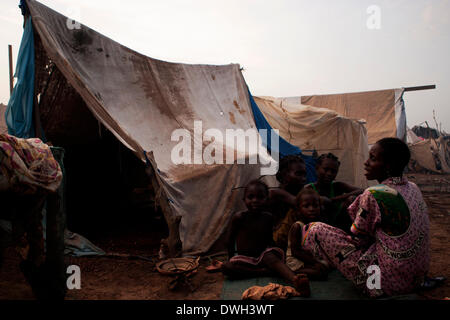 M'Poko camp for internally displaced persons, Bangui, Central African Republic - Stock Photo