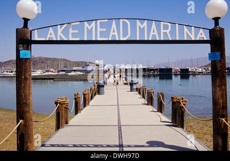 Lake Mead Marina, near Boulder City, Nevada, USA - Stock Photo