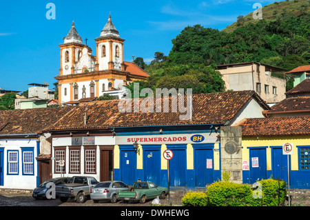 Sao Francisco de Assis Church, Sabara Stock Photo