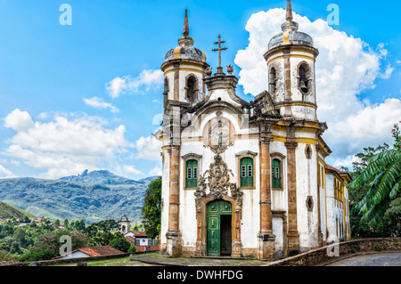 Sao Francisco de Assis Church, Ouro Preto Stock Photo