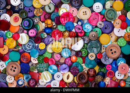 Colourful Buttons Pattern - Stock Photo