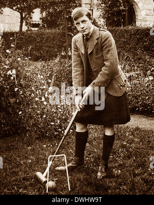 Prince of Wales (later King Edward VIII) playing croquet - Stock Photo