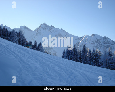 View over the Austrian Alps. - Stock Photo