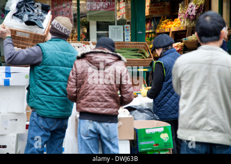 Chinatown Deliveries on Lisle St in London UK - Stock Photo