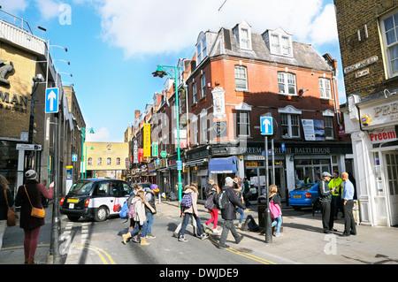 Brick Lane, Tower Hamlets, East London, England, UK - Stock Photo