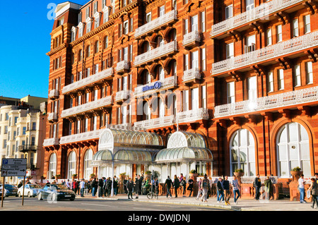 Brighton Hotel Metropole East Sussex England Sea Bathing Seafront Stock Photo Royalty Free