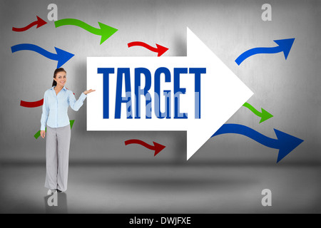 Target against arrows pointing - Stock Photo