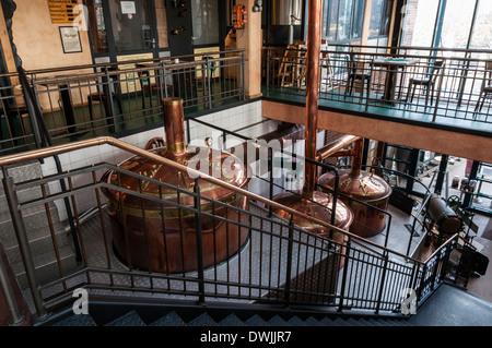 Interior of 'Brauhaus Zeche Jacobi' brewpub at Centro Oberhausen, NRW, Germany - Stock Photo