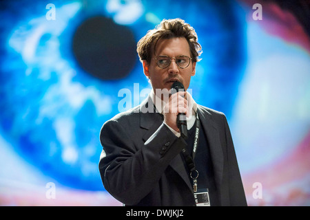TRANSCENDENCE 2014 Warner Bros film with Johnny Depp as Dr Will Caster - Stock Photo