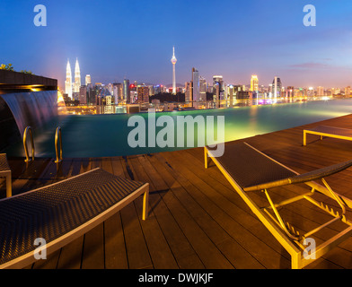 Rooftop swimming pool with a skyline view of tel aviv and - Rooftop swimming pool kuala lumpur ...