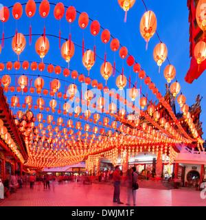 Thean Hou Temple in Kuala Lumpur During Chinese New Year, Malaysia - Stock Photo