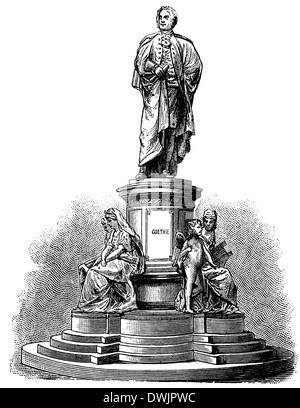 Johann Wolfgang von Goethe (1749  – 1832),  German writer - Stock Photo