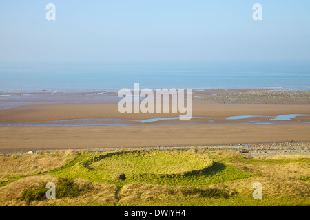 Salt Pans at Crosscanonby by Allonby Bay Cumbria England United Kingdom Great Britain - Stock Photo