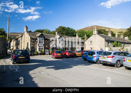 The Old Nags Head pub in Edale in Peak District National Park Derbyshire England United Kingdom UK