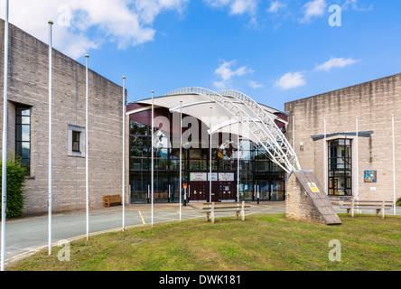 Royal International Pavilion at the International Musical Eisteddfod site in Llangollen, Denbighshire, Wales, UK - Stock Photo