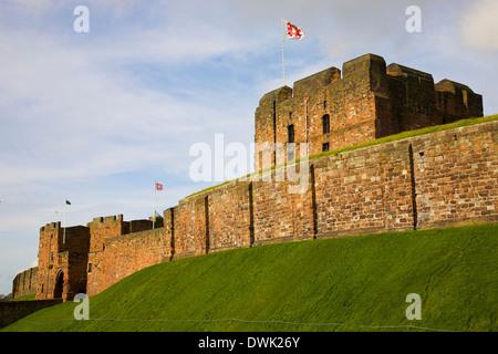 Carlisle Castle, Carlisle Cumbria England United Kingdom Great Britain - Stock Photo