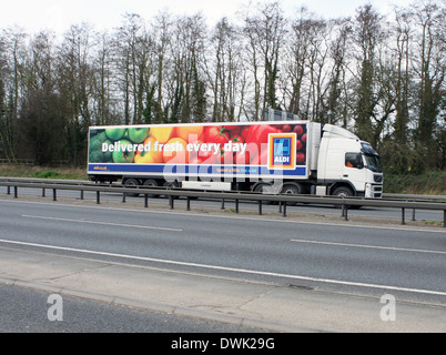 A truck traveling along the A12 road in Essex, England. - Stock Photo