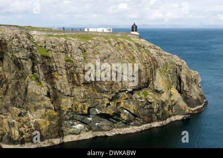Ushenish Point and Lighthouse, South Uist, Western Isles, Scotland, UK - Stock Photo