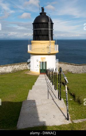 Ushenish Lighthouse, South Uist, Western Isles, Scotland, UK - Stock Photo