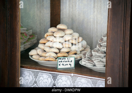 Marzipan cakes, Erice - Stock Photo