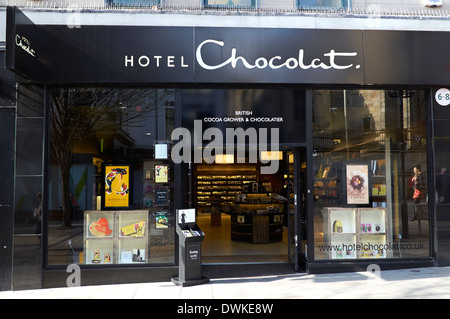 hotel chocolat chocolate shop Nottingham uk - Stock Photo