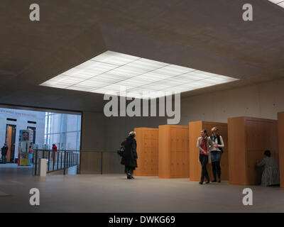 The entrance hall of the New Museum in Nuremberg in February 2014. - Stock Photo