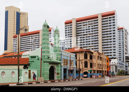 Chinatown mosque, Singapore, Southeast Asia, Asia - Stock Photo