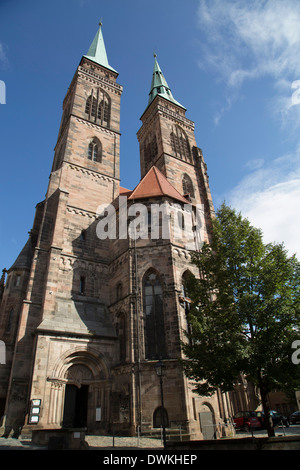 St. Sebald Church, Nuremberg, Bavaria, Germany, Europe - Stock Photo