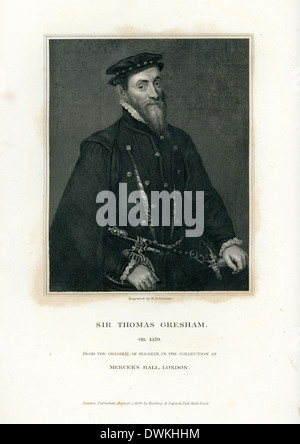 Portrait of Sir Thomas Gresham an English merchant and financier - Stock Photo