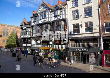 Bridge Street, Chester, Cheshire, England, United Kingdom, Europe - Stock Photo