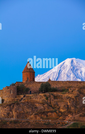 Khor Virap Armenian Apostolic Church monastery, at the foot of Mount Ararat, Ararat Plain, Yerevan, Armenia, Central - Stock Photo