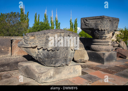 Zvartnots Cathedral, UNESCO World Heritage Site, Yerevan, Armenia, Central Asia, Asia - Stock Photo