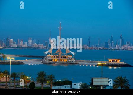 Marina Waves Leisure complex, a three-storey leisure complex, Salmiya, Kuwait City, Kuwait, Middle East - Stock Photo