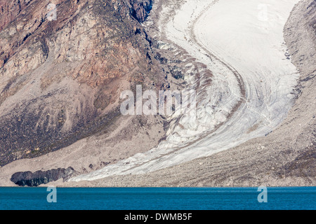 Glacier detail in Icy Arm, Baffin Island, Nunavut, Canada, North America - Stock Photo