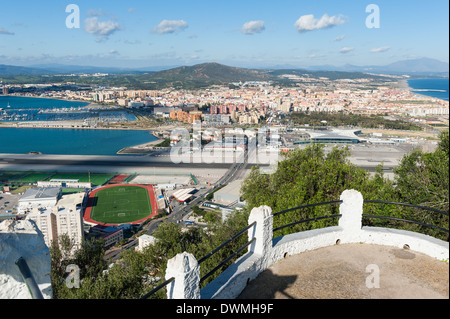 Gibraltar Spain border - Stock Photo