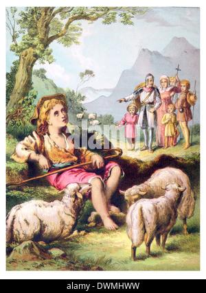 The Shepherd Boy - Stock Photo